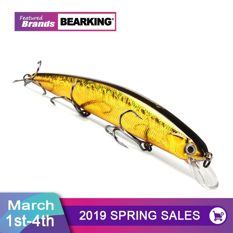 Bearking un + 2017 modelo caliente Señuelos de Pesca cebo duro 10 colores para elegir 13 cm 21g minnow... calidad profesional minnow depth1.8m
