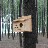 Chaude nouveau en bois en plein air Maison boîte de reproduction Des Oiseaux Oiseau Boîte Boîte En Bois nid d'oiseau en bois maison nid cage jouet livraison gratuite