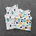 high quality kids summer fruit clothing for boys girls baby toddler big boy clothes children sleeveless 100% cotton vest t shirt