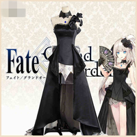 Fate/Grand Order 2 Anniversary Marie Antoinette Cosplay Costume Dress Uniform Long Black Dresses For Cosplay Convention