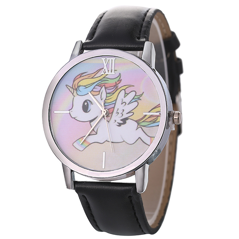 New Fashion Children Cartoon Watches Women Casual Leather Sport Wrist Watches For Women Clock Ladies Quartz Watch saat bayan in Women 39 s Watches from Watches