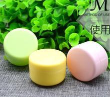 massage 1 Cosmetic Box Cream Manicure Beads Storage Container Round Bottle Portable Plastic Random Color