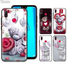 Me A Você Tatty Teddy Bear Silicone Soft Case para Huawei Honor Y9 Y5 Y6 Y7 2019 Honra 10 20 lite 8X 8A V20 Capa(China)
