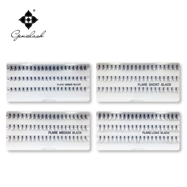 4 Cases 8/10/12/14mm Individual Flare False Eyelashes