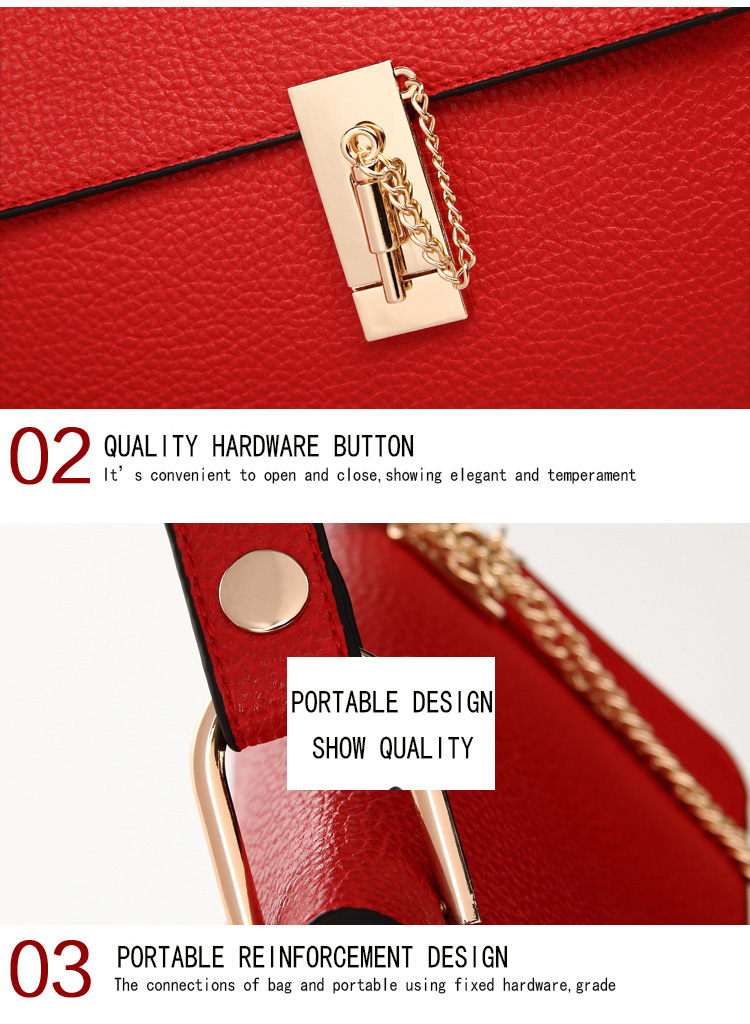 Brand Designer Chain Piggy Bags Fashion Grained Women Handbags Artificial Leather Ladies Shoulder Bags Elegant Party Lock Totes (26)