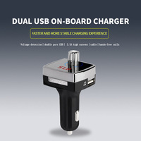 Bluetooth 4 2 FM Transmitter 3 1A Dual USB Car Charger AUX OUT Support U Disk