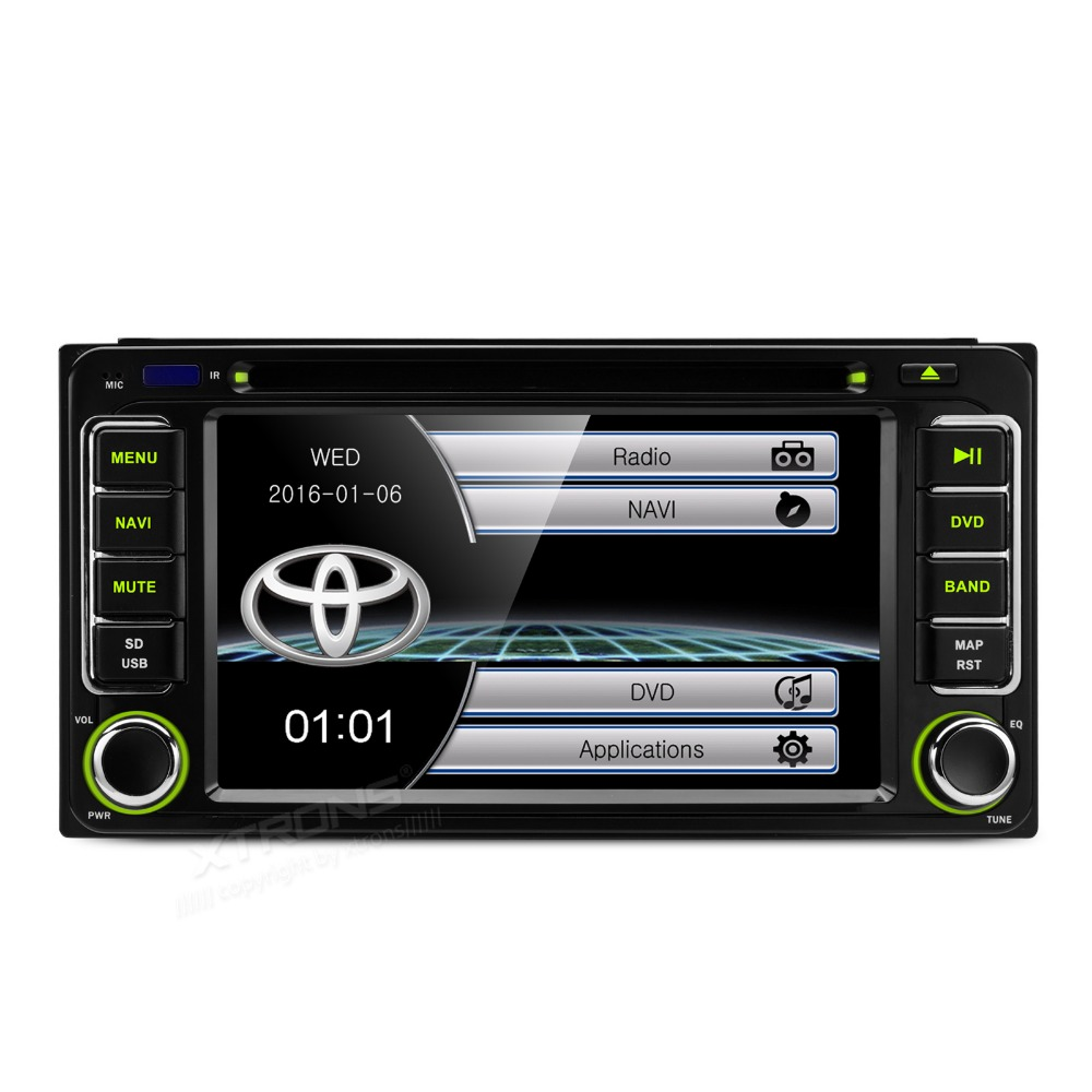 Xtrons 6 2 hd touch screen 2 din car dvd player with gps navigation for toyota