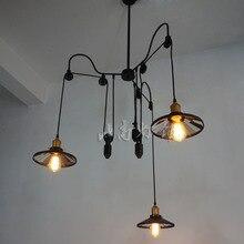 Wholesale Loft restaurant bar style rural industrial     telescopic mirror pendant light bar dining lamp