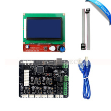 3D Printer Kit MKS Base V1.5 3D Printer Controller Board With Mega 2560 R3 Motherboard RepRap Ramps1.4 + 12864 LCD Controller
