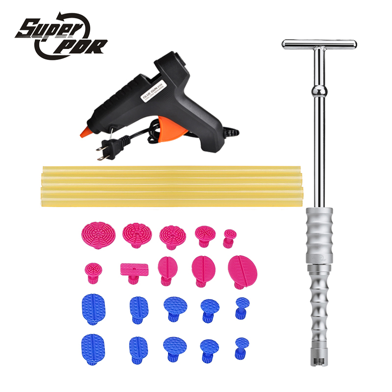Super PDR tools Car Dent Repair Tool kit Glue Gun Slide Hammer glue sticks 27pcs auto body repair tools Dent removal tool kit 1 pair boxing training sticks target mma precision training sticks punching reaction target muay thai grappling jujitsu tools