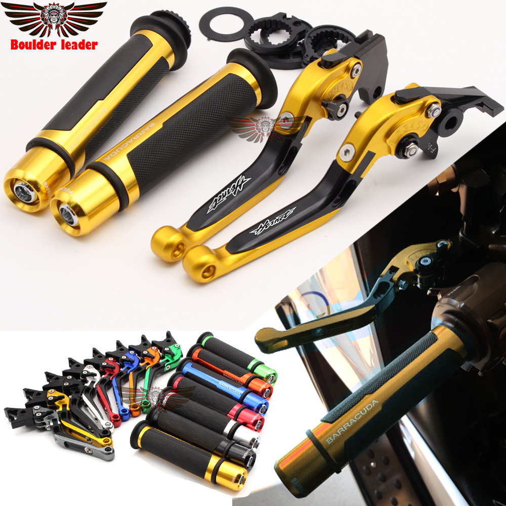 For Honda CB599 / CB600 HORNET 1998-2006 2003 2004 2005 Motorcycle Adjustable Folding Brake Clutch Levers Handlebar Hand Grips laser logo z1000 green titanium motorcycle cnc folding adjustable brake clutch levers for kawasaki z1000 2003 2004 2005 2006