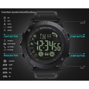 Image 3 - Spovan Top Brand Sport Watch Black Military Quality Military Quality A Plastic Bluetooth Wristwatch Waterproof Date Reloj Mujer