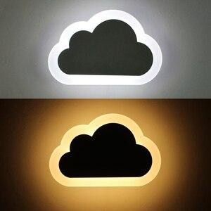Image 3 - 8W Modern LED duvar ışığı oturma odası çocuk yatak odası dekoru bulutlar duvar lambaları akrilik ve demir minimalist aplik lambası AC 110V 220V 240V