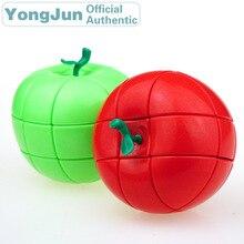 YongJun Apple 3x3x3 Magic Cube YJ 3x3 Professional Neo Speed Puzzle Antistress Fidget Educational Toys For Children yongjun diamond symbol 3x3x3 magic cube yj 3x3 professional neo speed puzzle antistress fidget educational toys for children