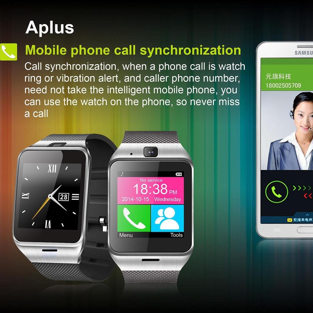 Nuevo reloj inteligente bluetooth con nfc tarjeta sim función de smart watch sma