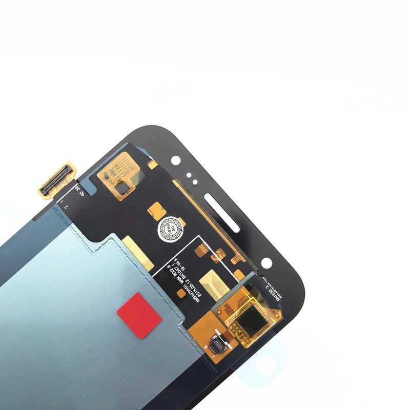 5.0 'AMOLED شاشات lcd لسامسونج غالاكسي J5 2015 J500 شاشة الكريستال السائل J500H J500FN J500F J500M SM-J500F مجموعة المحولات الرقمية لشاشة تعمل بلمس