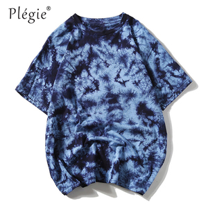 Image 2 - Tie Dye t shirt Unisex Hip Hop T shirt 2020 Summer Mens Round Neck loose Tshirts футболка 100%cotton Womens Oversize Tees Tops