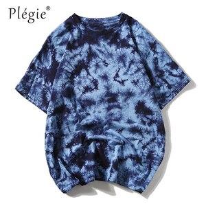 Image 2 - タイダイtシャツユニセックスヒップホップtシャツ 2020 夏メンズラウンドネックルースtシャツ футболка 100% コットンレディースオーバーサイズtシャツトップス