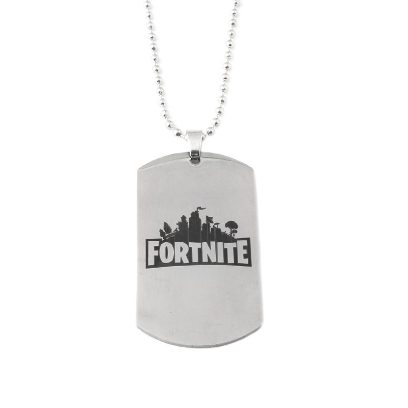 FPS Game Fortnite Battle Royale Necklace Time Gem Leather Rope Pendant Chokers Fortnite Figures Cover Jewelry