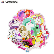 30Pcs Colorful Cute Unicorn Sticker for Graffiti Car Covers Skateboard Snowboard Motorcycle Bike Laptop Sticker Bomb Accessories стоимость