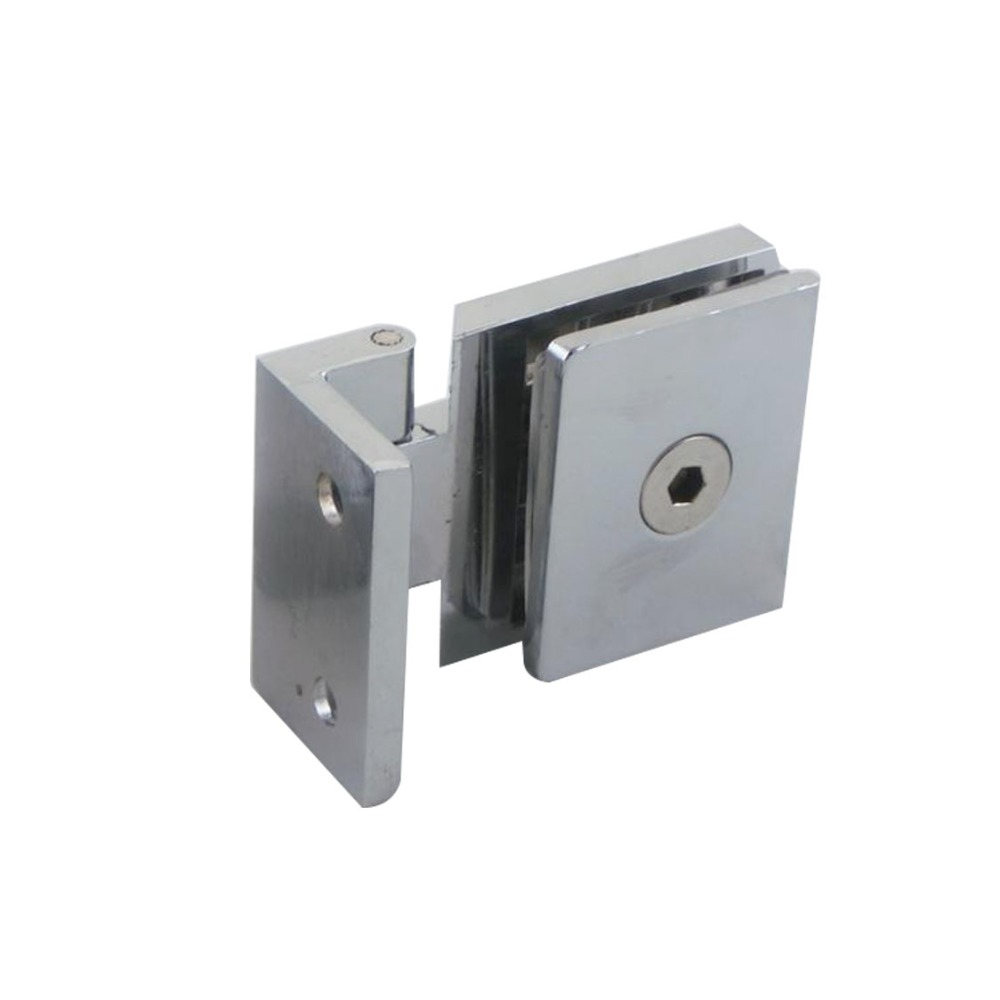 Cupboard cabinet wall to glass door pivot clip clamp for Glass cabinet hinges