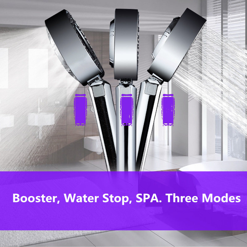 Bathroom Shower Double-sided Shaking Head Shower Water On Both Sides Can Add Shower Gel SPA Shower Head High Pressure цена