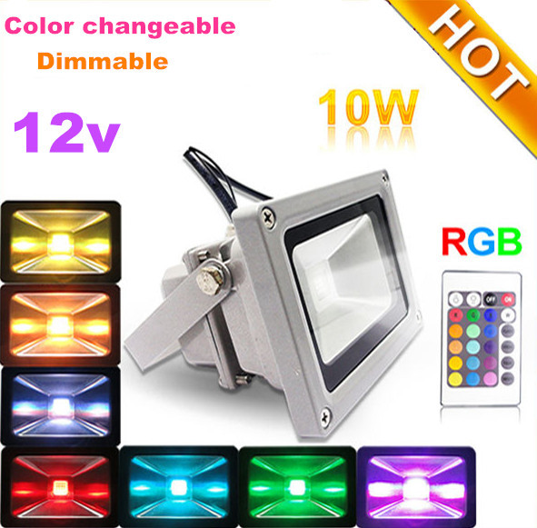 10W Outdoor Garden Light Waterproof RGB 12 Volt Landscape Exterior Lighting  Led Uplight