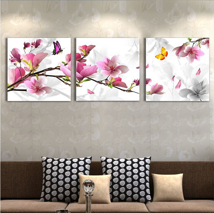 3 pcs canvas art modern home decoration wall art picture for living 3 pcs canvas art modern home decoration wall art picture for living room pink tulip flower canvas print oil painting on canvas in painting calligraphy mightylinksfo Image collections
