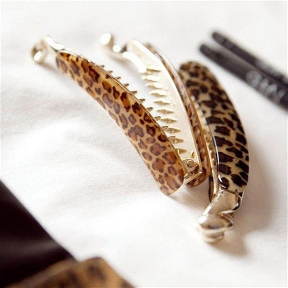 2019 Trendy Women Hair Clip Leopard Print Ladies Barrette Hair Claw Hair Pin Banana Hairpin Hairgrip Hair Styling Accessories