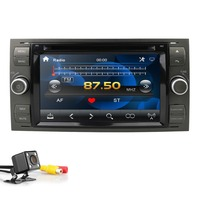 2Din 7Black Sliver Car DVD Player For Ford Focus/Mondeo/Transit/C MAX/Fiest GPS Navigation car Radio auto BT 1080P CD FM/AM DAB