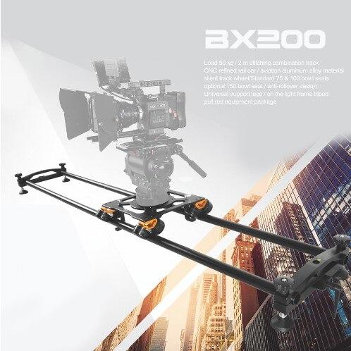 Greenbull BX200 Film Caméra Curseur Portable Photographique Poulie Curseur Kit Pour ROUGE FS7 Vidéo Caméra avec 75mm & 100mm Bol