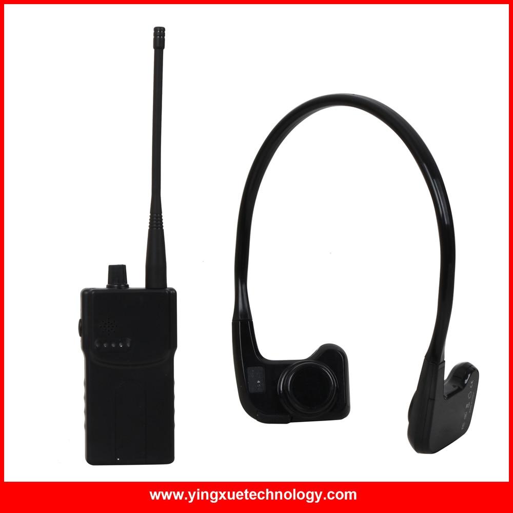 NOUVELLE Arrivée Conduction Osseuse Récepteur Sans Fil Système De Transmission avec 1 WalkieTalkie Émetteur + 1 Récepteurs + 1 Microphone