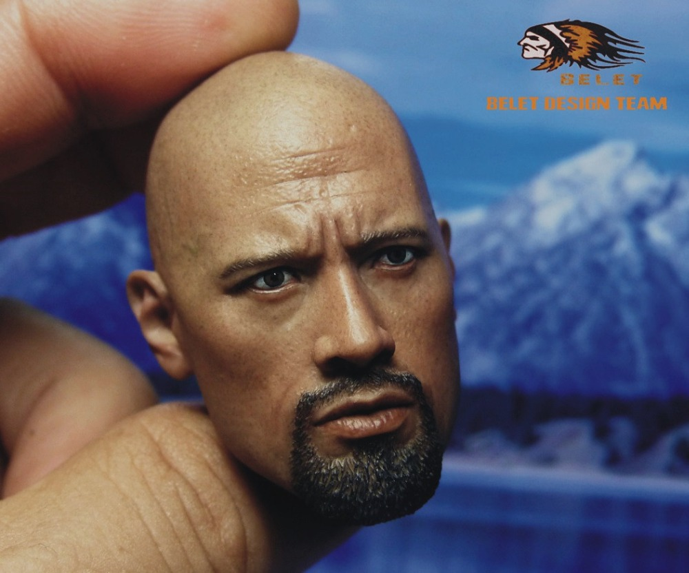 1/6 scale figure doll head shape for 12 action figure doll accessories Fast&Furious Luke Hobbs Dwayne Johnson male Head carved 1 6 scale figure doll head shape for 12 action figure doll accessories iron man 2 whiplash mickey rourke male head carved