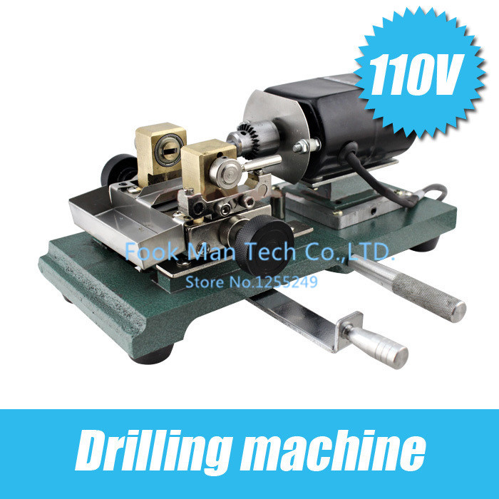 make to order 110V Drill Press/Drilling machine/Pearl drilling, wood bead punch, jade drilling Positioning fine polishing