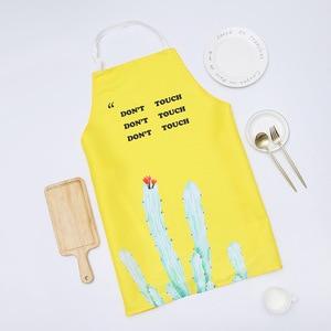 Image 4 - 1 Ps Chic Kaktus Muster Unisex Kochen Esszimmer Küche BBQ Restaurant Reinigung Wasserdichte Kellnerin Hausarbeit Schürzen Dropshipping
