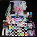 New Pro 24W Led 36W UV GEL polish with White Lamp & 36 Color UV Gel Nail Art Tools Set Kit Top coat & Base coat  SI-111