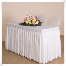 6FT wedding table skirting cloth skirts for banquet party 5pcs/lot free shipping