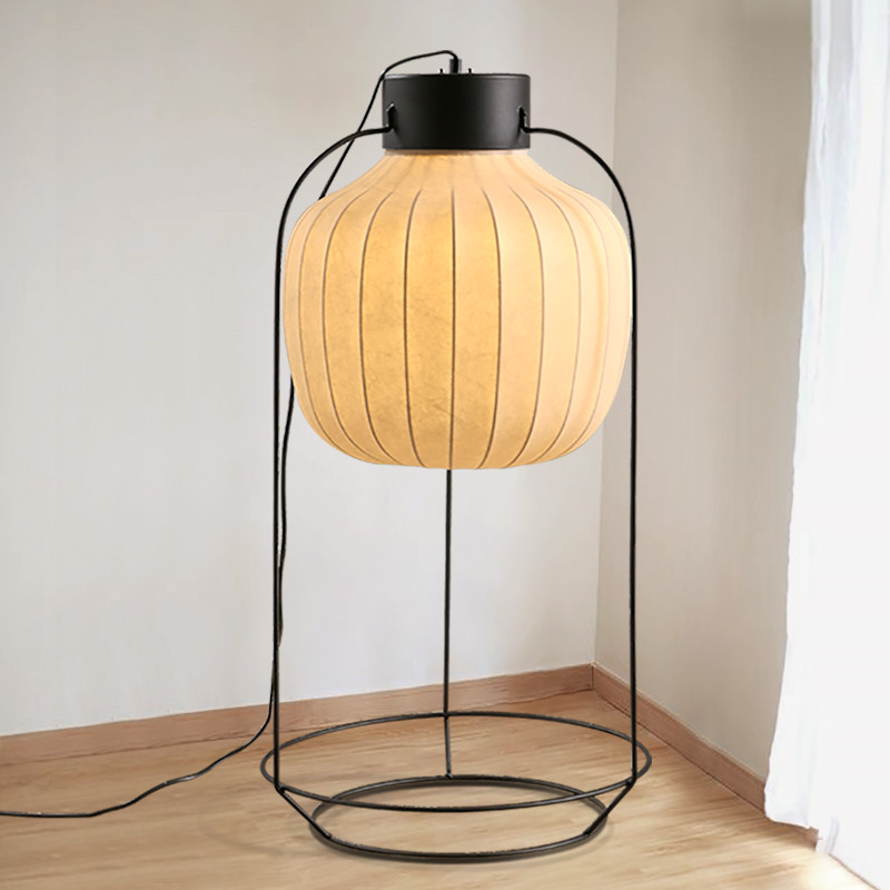Chinese style cage pendant light white lamps modern Japanese restaurant bar tea house tea room iron art cloth desk lamp ZA81015