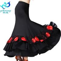 Ladies Flamenco Dance Costume Skirt Ballroom Dancing Dress Standard Modern Waltz Tango Performance Stage Outfits #2790