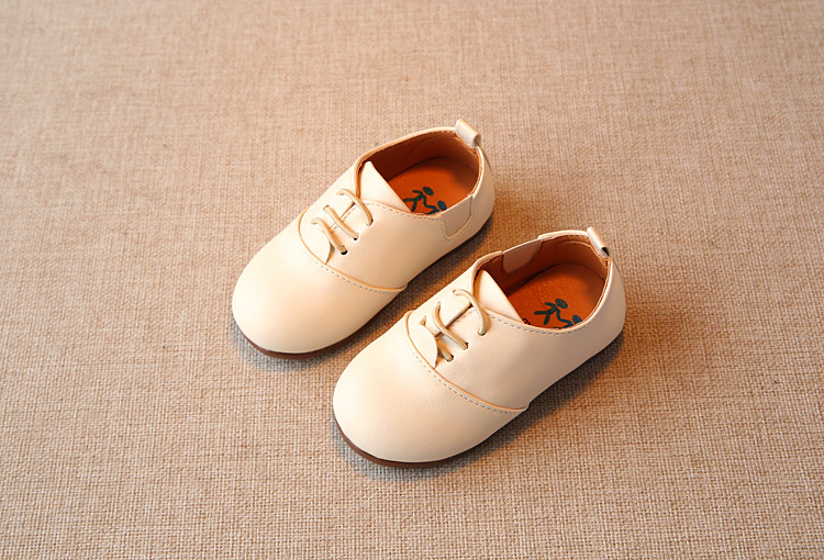 Spring Children Casual Shoes Baby Boys England Style Leather Shoes Girls Soft Bottom Shoes Kids Flats High Quality Sneakers C243 8