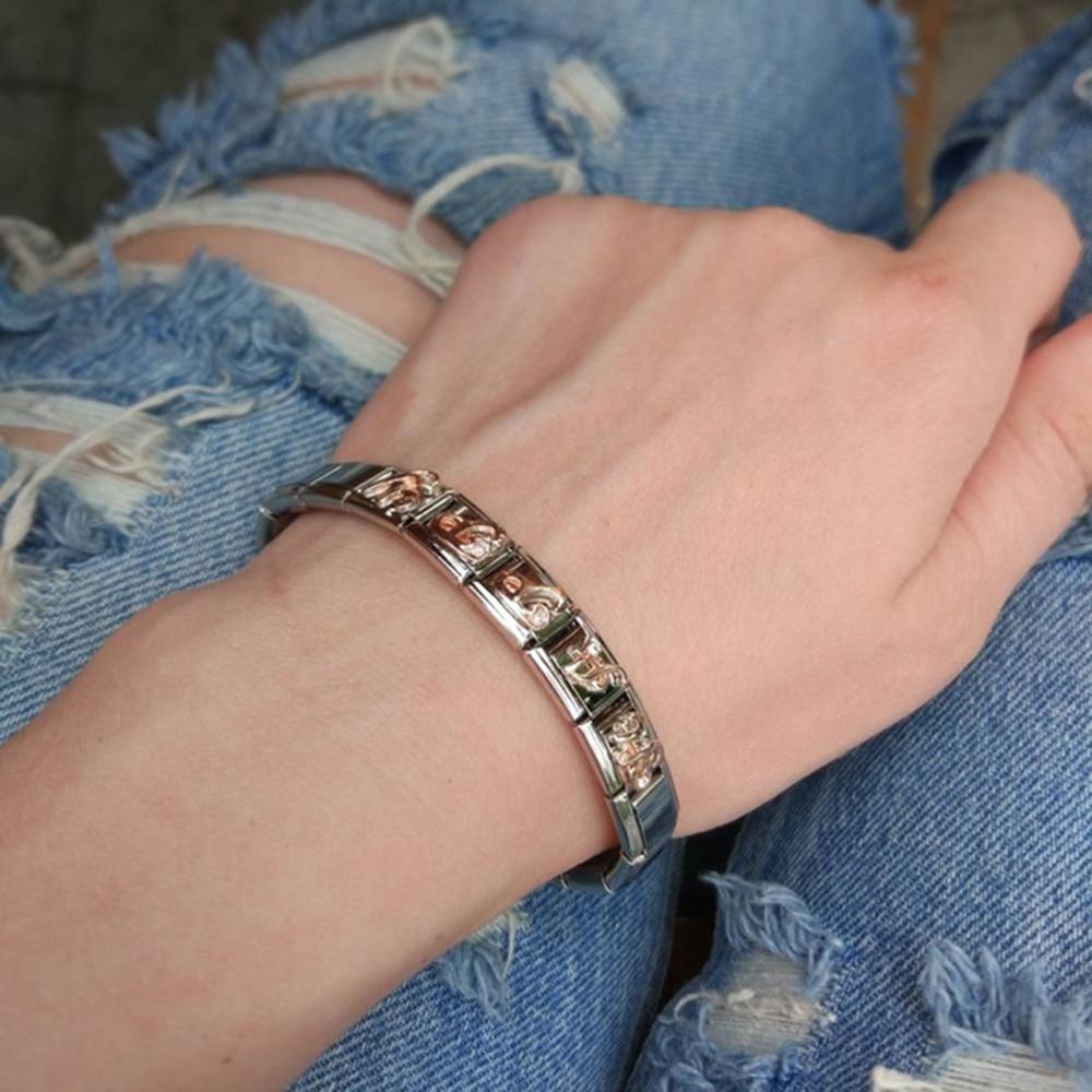 Nowintwion Sister Bracelets For Women 2018 New Fashion Bangles Family Bracelets Bangles Girl Stainless Steel Bracelet Jewelry