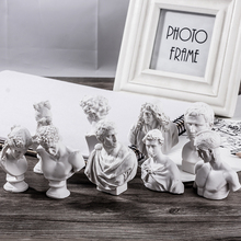10PCS/set Resin Plaster Model 5-8cm Venus Ares Plaster Statue History Myth Figures Sketch Painting Practice Resin Ornaments