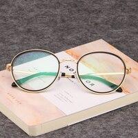 골드 나무 안경 프레임 투명 렌즈 안경 안경 남성 안경 처방 디자이너 프레임 레트로 라운드 697