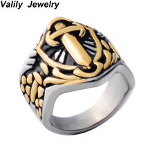 Men s antique muslim Sword of Imam Ali ring Stainless steel Islam Retro fashion Arab brand