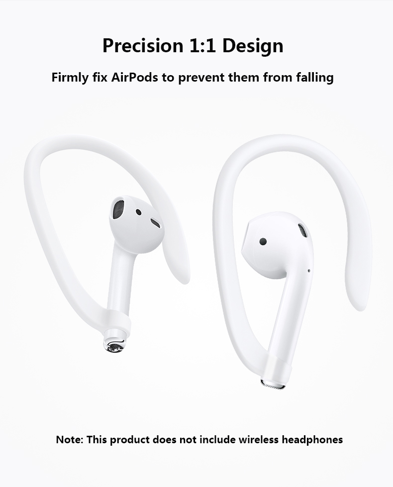 Protective Earhooks Holder Secure Fit Hooks for Airpods Apple Wireless Earphones Accessories Silicone Sports Anti-lost Ear Hook 1 Pair3