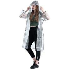 fec60918b087f4 PVC Regenmantel Frauen Wasserdicht Transparent Poncho Outdoor Frau Jacken  Regen Abdeckung Chuva Mantel Mädchen Klar Regenmantel