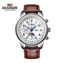 7936bc4e43cc Famosa marca Original GUANQIN Reloj mecánico hombres Reloj grande del Dial  Reloj militar impermeable Relogio Masculino