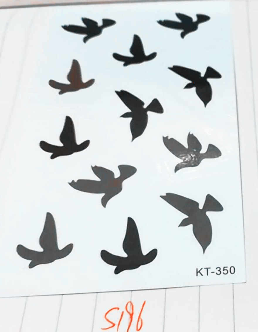 Classic Black Tatoo Cat Bird T attoo Tatuajes Hand Tatouage Body Watproof Temporary T attoo Small Taty Massage