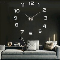 Charminer DIY 3D Wall Clock Large Size Mirrors Surface Home Decoration Luxury Art Clock DIY Wall