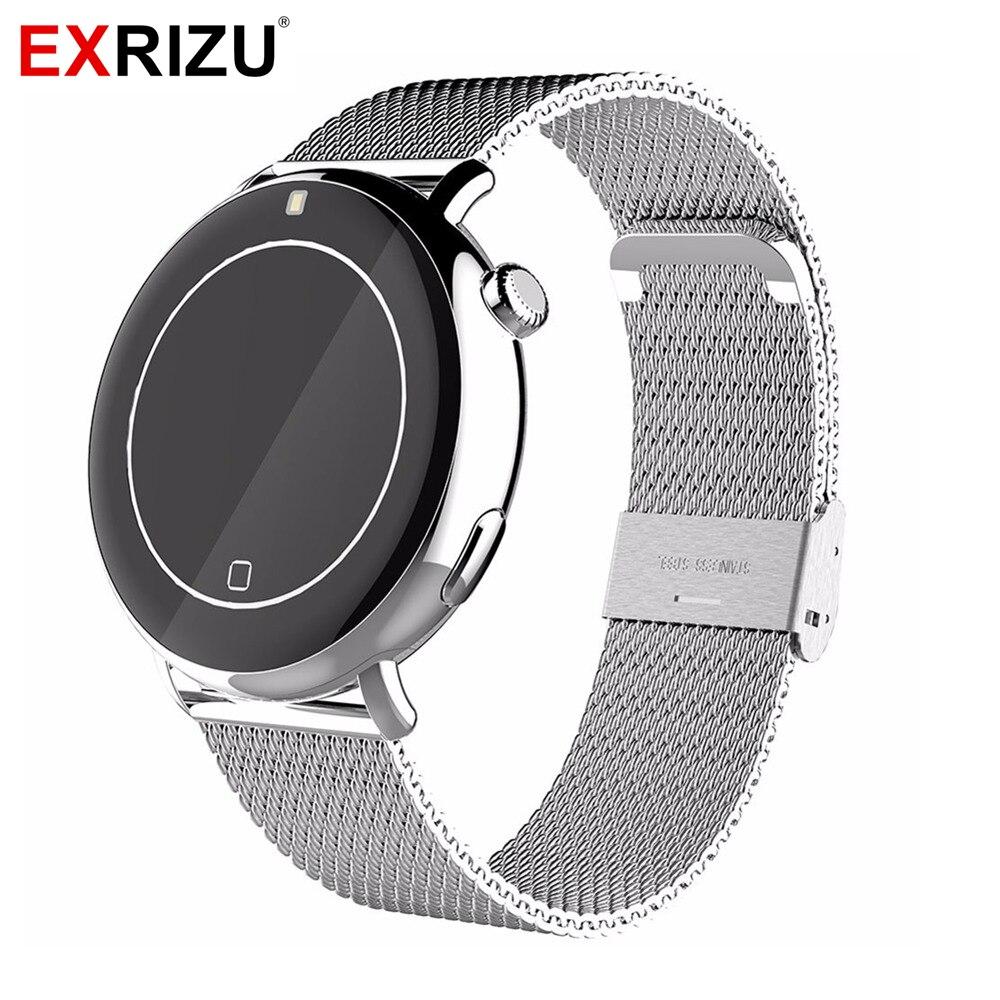 EXRIZU MTK2502C Bluetooth Montre Smart Watch IP67 Étanche IPS HD Geste Contrôle Moniteur de Fréquence Cardiaque UV Altitude Podomètre Mic Musique